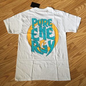 NEW PINK DOLPHIN PURE ENERGY WHITE T-SHIRT TEE